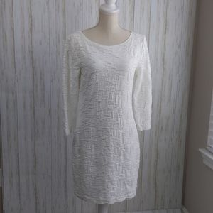 Armani Exchange Sheer Textured Bodycon Dress Sz L